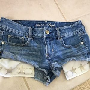 Jean Shorts with Star Pockets